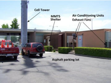Temperature Measurement Sensor large asphalt parking area and air conditioning